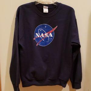 NASA sweatshirt, navy blue sz M